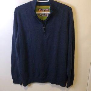 Robert Graham pull over zip up sweater wool